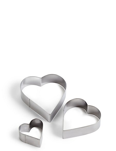 Set of 3 Heart Cutters