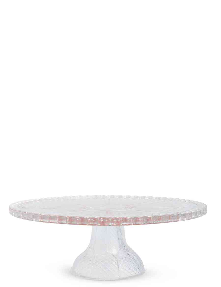 Vintage Glass Cake Stand M S