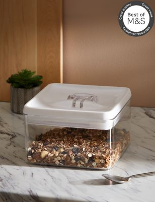 Image of 3L Square Flip-Tight Food Storage - White Mix, White Mix
