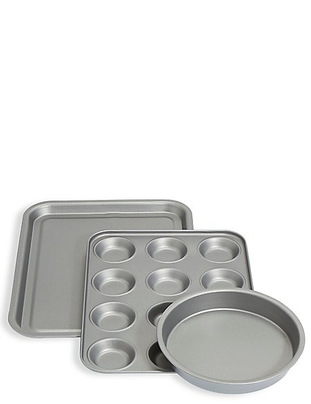 Set of 3 Mixed Baking Tins