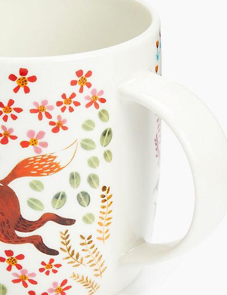 Woodland Fox Print Mug