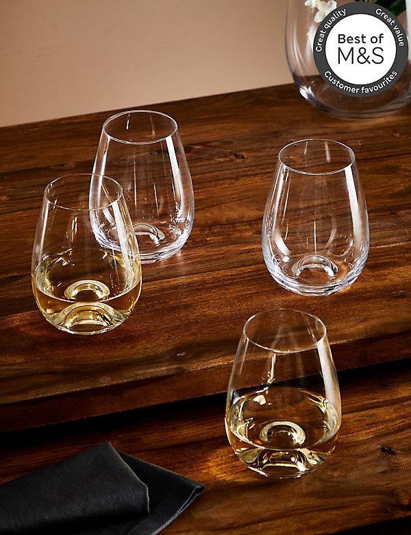 Maxim– Lot de 4verres à vin sans pied