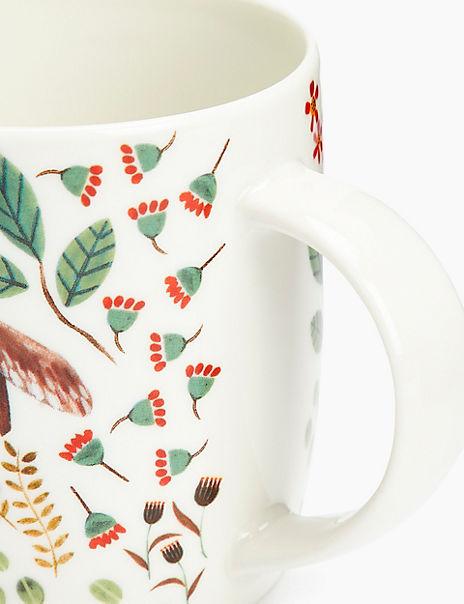 Woodland Badger Print Mug