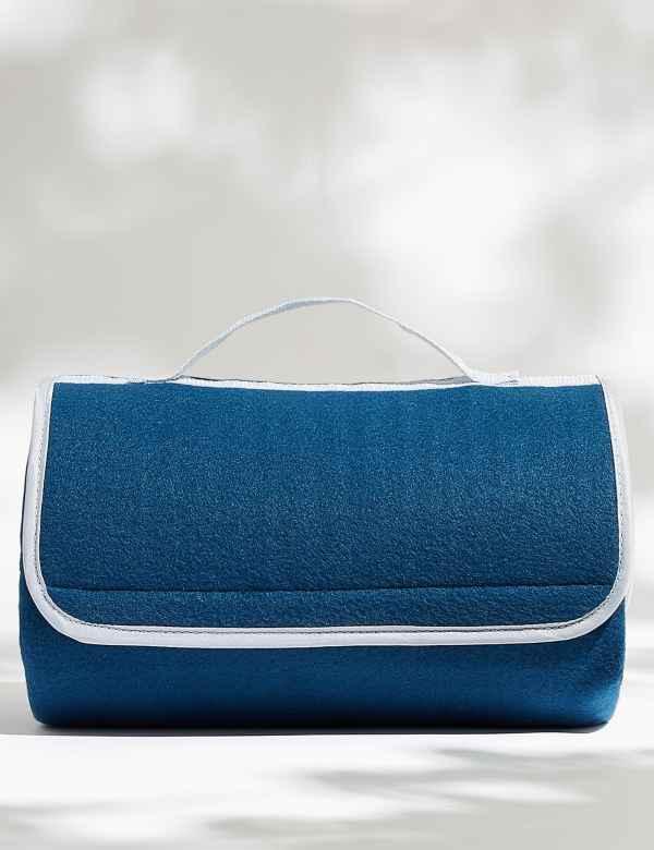 Plain Fold Away Fleece Mat | M&S