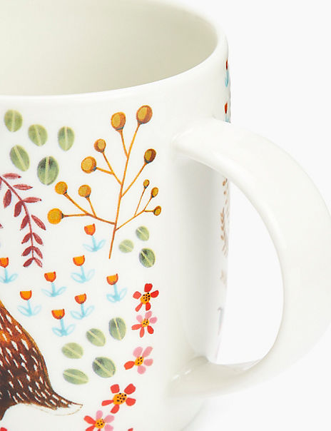 Woodland Rabbit Print Mug