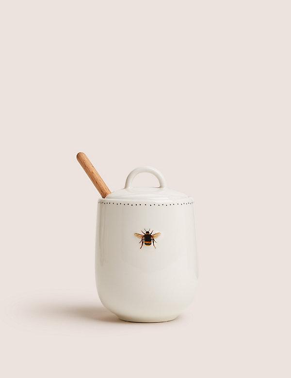 Honingpot met bijenmotief