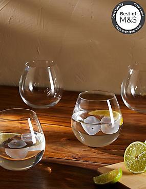 Set of 4 Maxim Stemless Gin Glasses