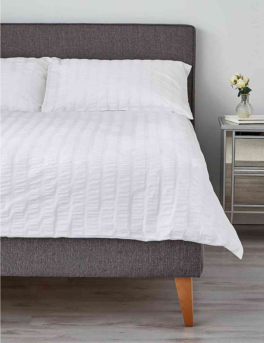 096079e460d1 Wide Stripe Seersucker Bedding Set