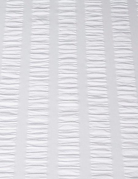 Wide Stripe Seersucker Bedding Set