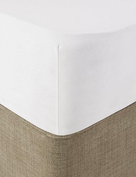 Comfortably Cool Cotton & Tencel® Blend Deep Fitted Sheet