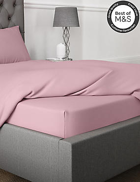 Pure Egyptian Cotton 230 Thread Count Deep Fitted Sheet with StayNEW™