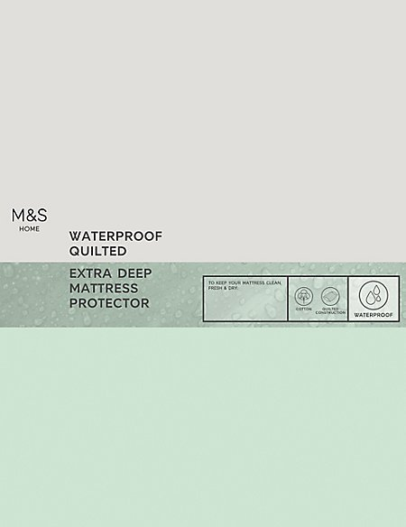 Waterproof Quilted Extra Deep Mattress Protector
