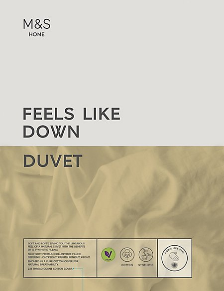 Feels Like Down 4.5 Tog Duvet