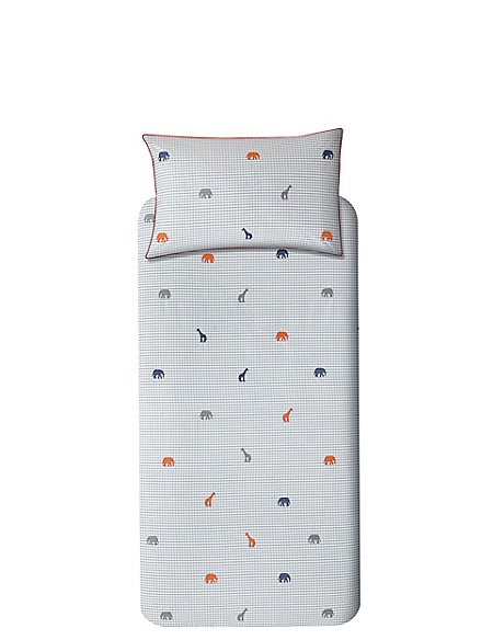 Embroidered Animals Bedset