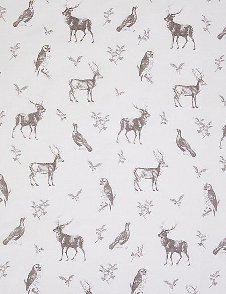 Woodland Animals Printed Bedding Set