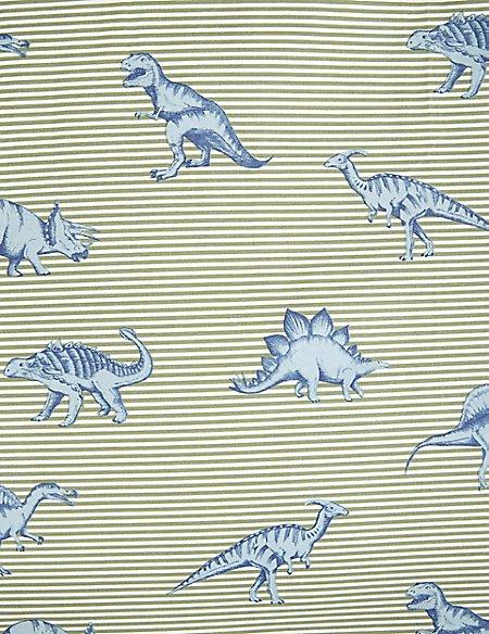 Dinosaur Striped Bedding Set
