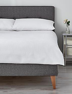 Washed Waffle Bedding Set