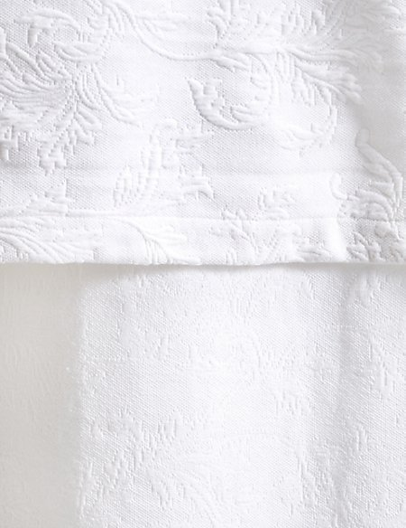 Floral Print Matelassé Bed Throw