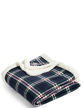 Vintage Check Fleece Throw