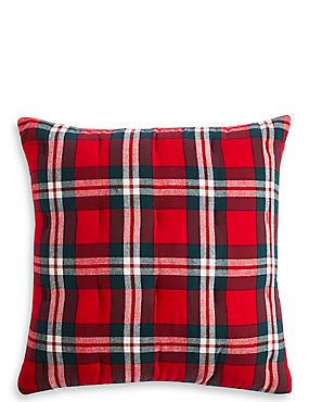 Vintage Check Brushed Cushion