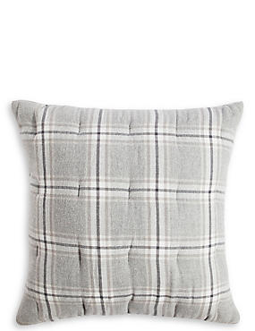 Vintage Check Brushed Cushion