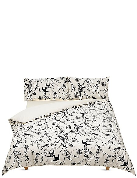 Kyoto Bird Print Bedding Set