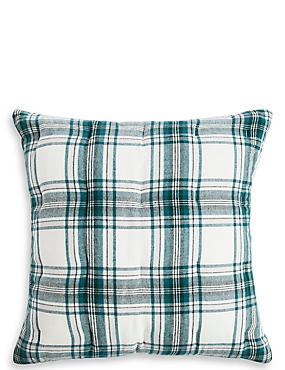 Austin Check Brushed Cushion