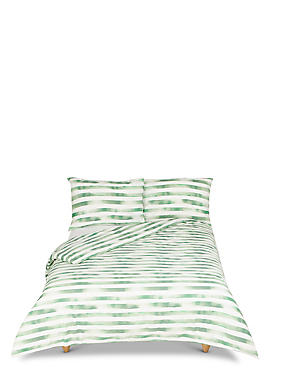 Watercolour Striped Bedding Set