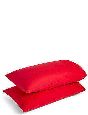 2 Pack Pure Cotton Brushed Pillowcase