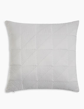 Abstract Geo Quilted Cushion