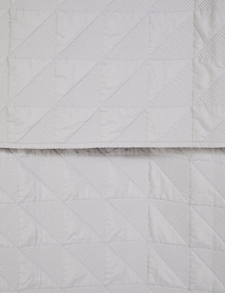 Abstract Quilted Bed Throw