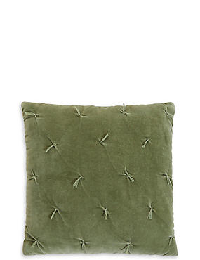 Cotton Velvet Tufted Cushion