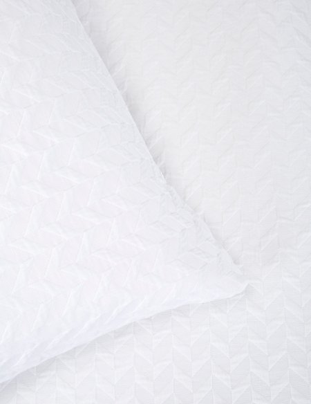 Pure Cotton Herringbone Matelassé Bedding Set