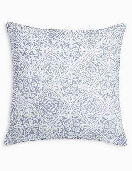 Matelassé Tile Print Cushion