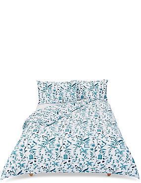 Hummingbird Print Bedding Set