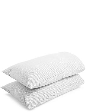 2 Pack Ridley Printed Stripe Pillowcase