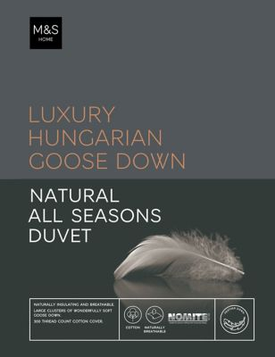 Hungarian Goose Down 13.5 All Season Tog Duvet by Marks & Spencer