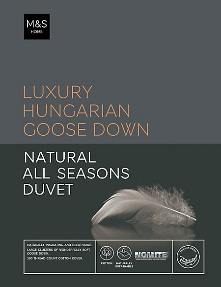 Hungarian Goose Down 13.5 All Season Tog Duvet