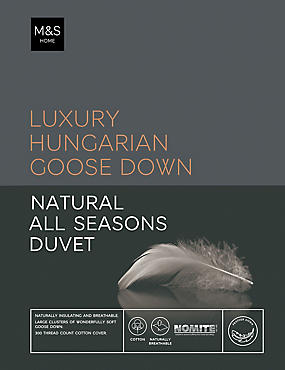 Hungarian Goose Down 13.5 All Season Tog Duvet