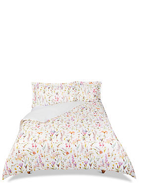 Watercolour Floral Print Bedding Set