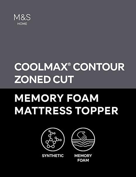 4 5cm Contour Cut Zoned Memory Foam Mattress Topper M Amp S