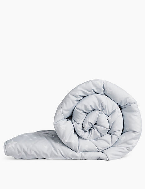 Supremely Washable Star Printed Pillowcase & 10.5 Tog Duvet