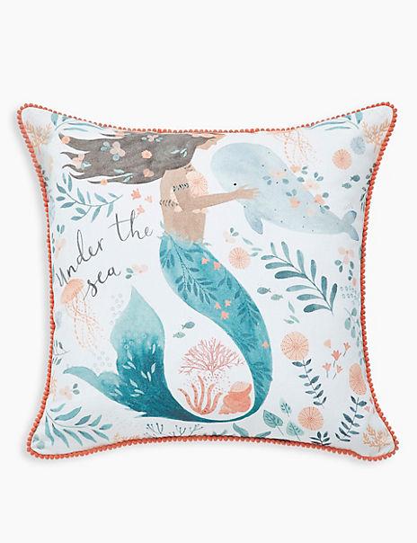 Mermaid Printed Cushion