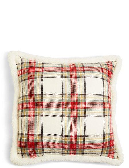 Austin Check Fleece Cushion