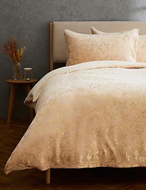 Fleece Foil Star Bedding Set