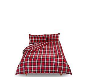 Vintage Checked Brushed Cotton Bedding Set