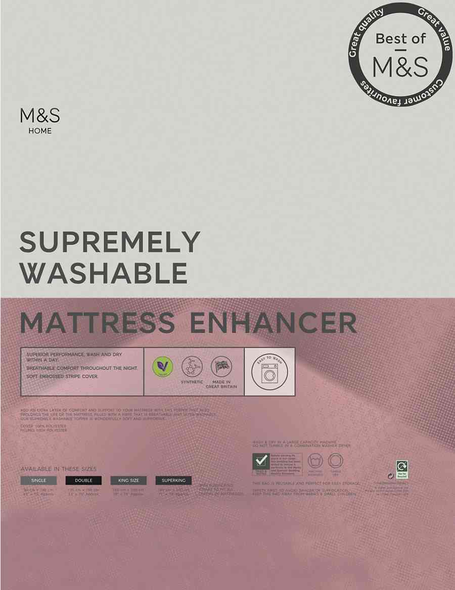Supremely Washable Mattress Topper M S