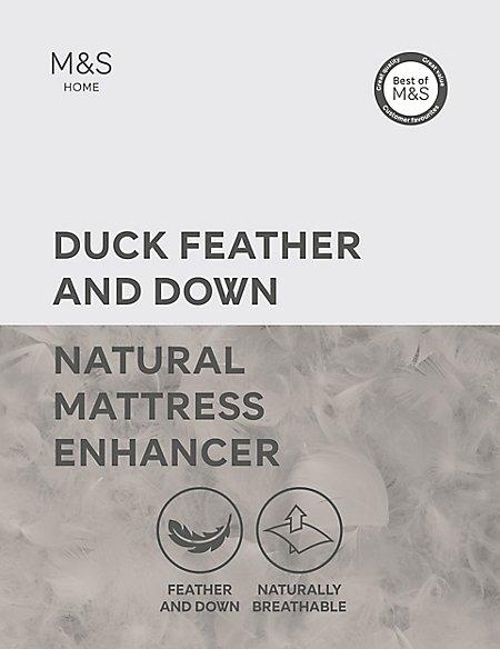 Duck Feather & Down Mattress Enhancer