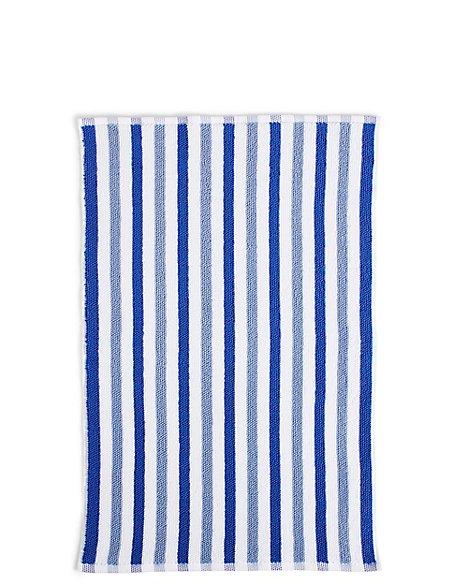 Lightweight Striped Bath Mat