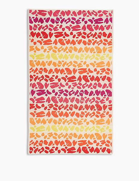Cotton Leopard Print Beach Towel